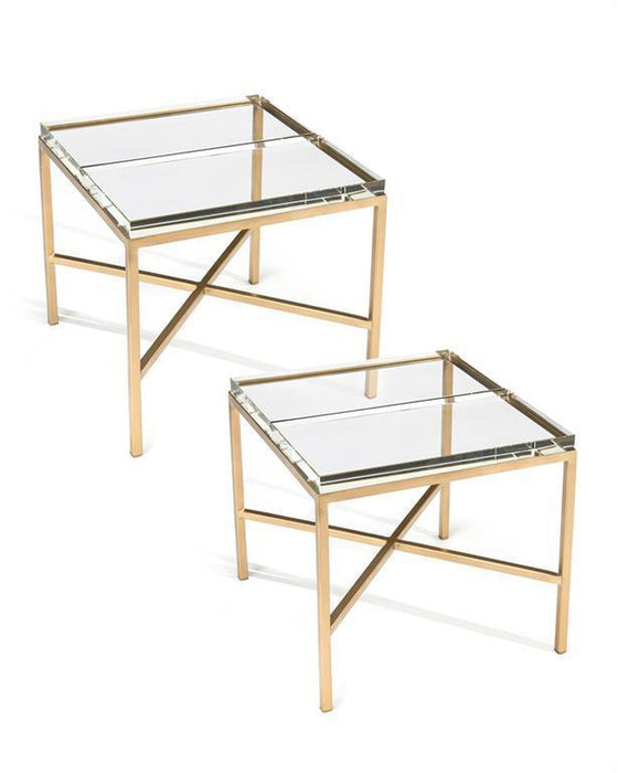 John Richard Double Glass Block Bunching Table