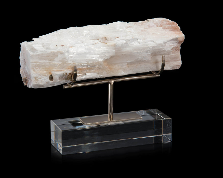 John Richard Gallery-Displayed Selenite Log