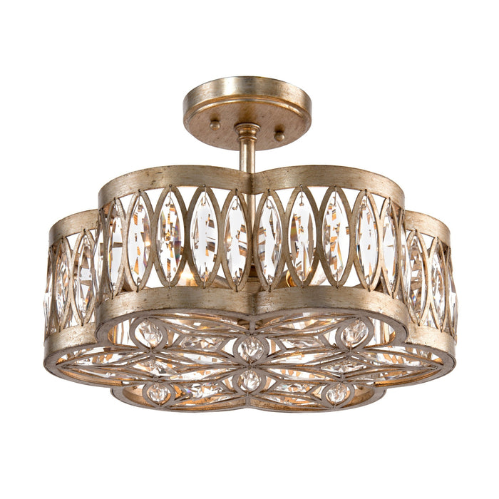 John Richard Six Light Diamante Semi-Flush