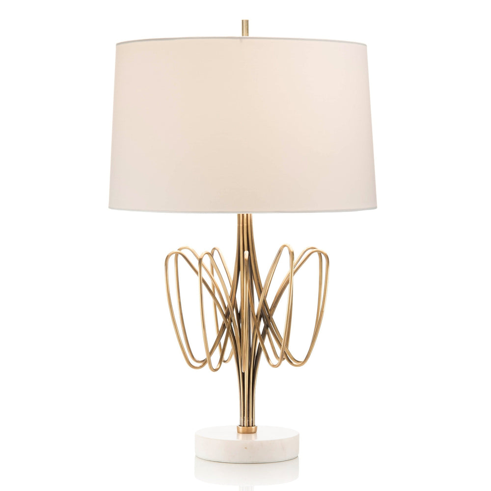 John Richard Twisted Brass Bloom Table Lamp