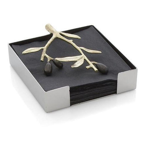 Olive Branch Gold Cocktail Napkin Holder