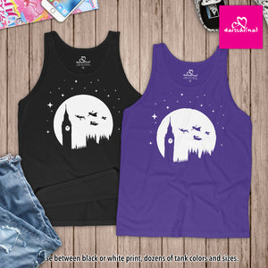 Peter Pan London Moon Silhouette - Unisex Tank Top
