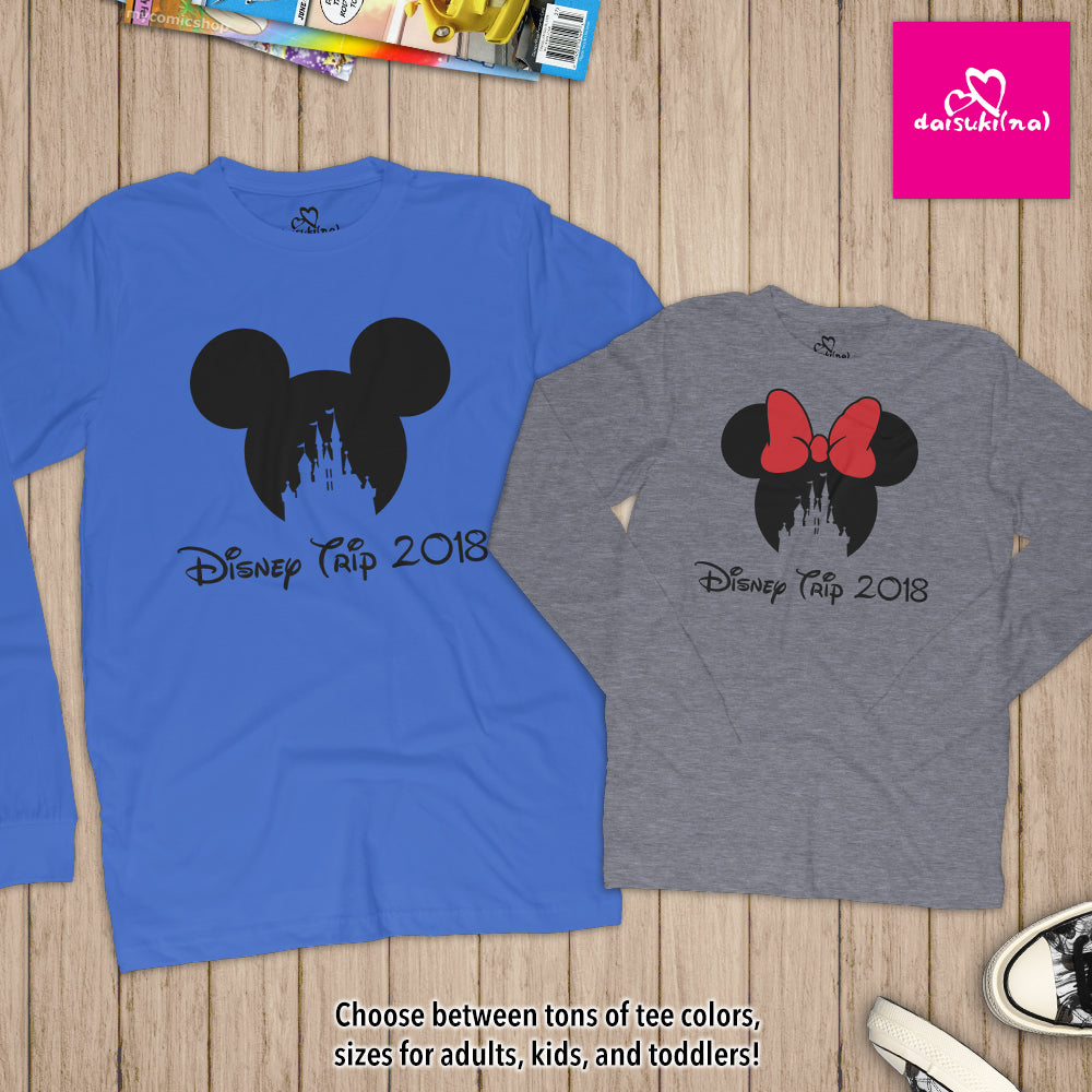 Magic Kingdom Disney Trip 2018 - Unisex Long Sleeve T-Shirt