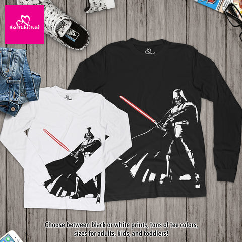 Darth Vader Form V Stance - Unisex Long Sleeve T-Shirt