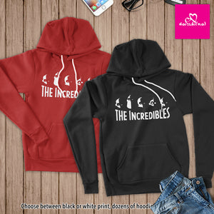 The Incredibles Family Silhouette - Unisex Pullover Hoodie