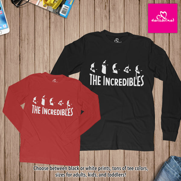 The Incredibles Family Silhouette - Unisex Long Sleeve T-Shirt