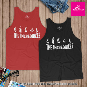 The Incredibles Family Silhouette - Unisex Tank Top