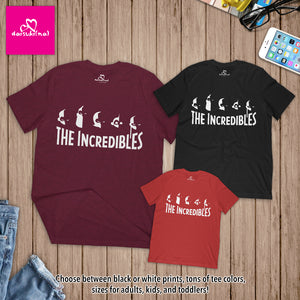 The Incredibles Family Silhouette - Unisex Short Sleeve T-Shirt