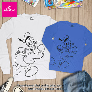 Happy Donald Duck - Unisex Long Sleeve T-Shirt