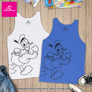 Happy Donald Duck - Unisex Tank Top