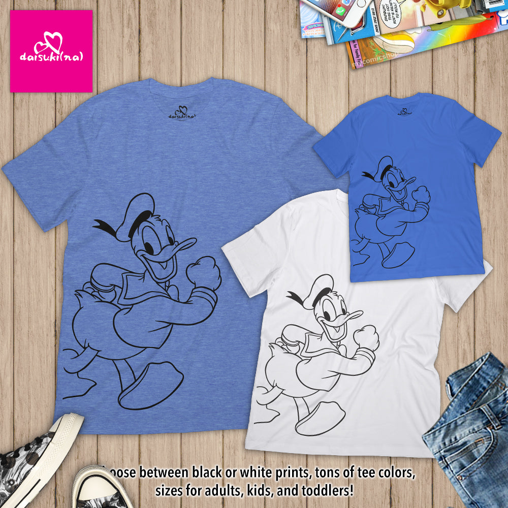 Happy Donald Duck - Unisex Short Sleeve T-Shirt