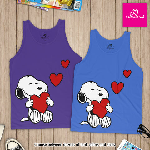 Snoopy in Love - Unisex Tank Top