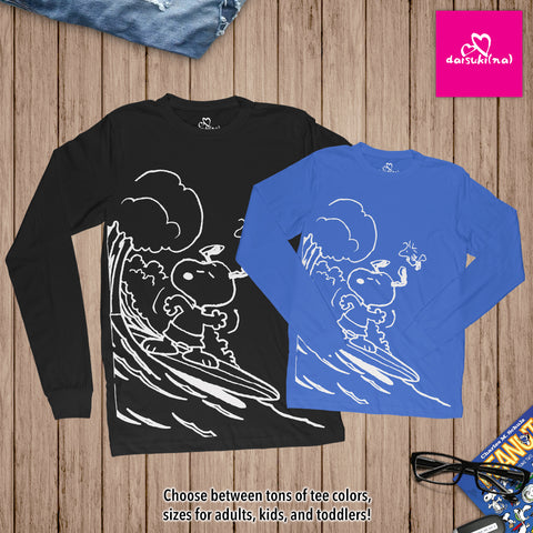Snoopy & Woodstock Shoot the Wedge Cowabunga - Unisex Long Sleeve T-Shirt