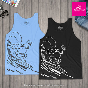 Snoopy & Woodstock Shoot the Wedge Cowabunga - Unisex Tank Top