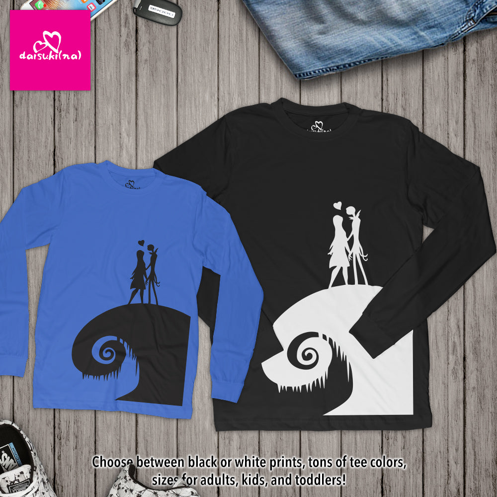 Jack and Sally on Spiral Hill - Unisex Long Sleeve T-Shirt