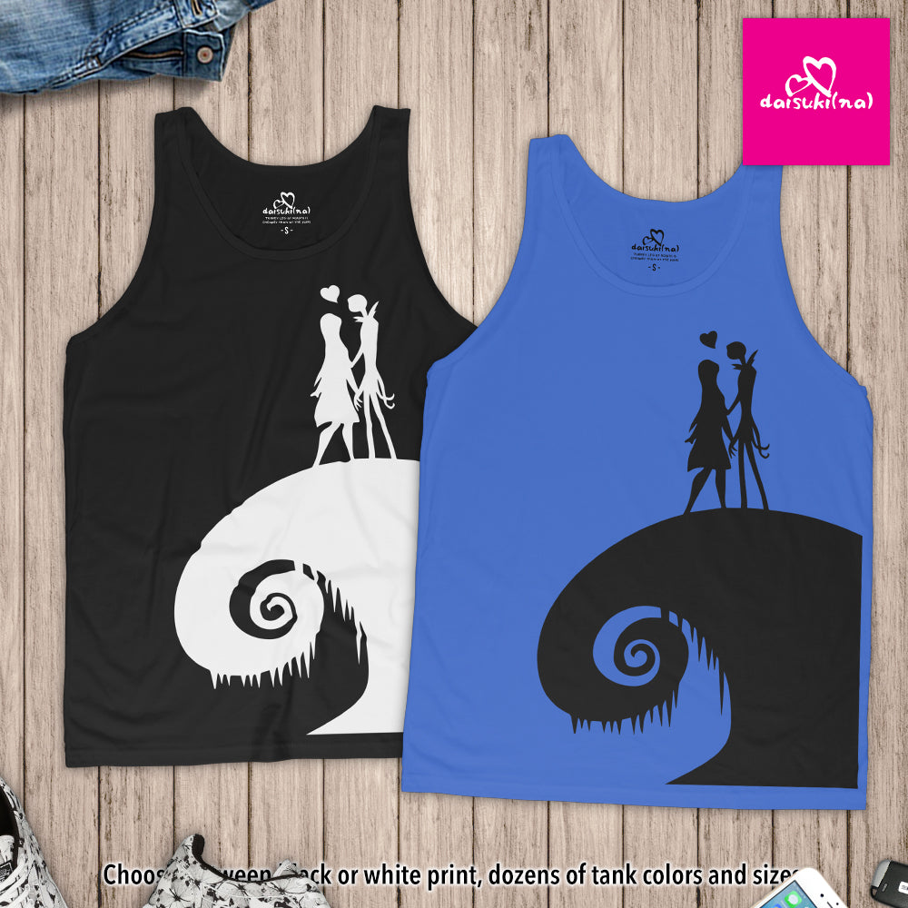 Jack and Sally on Spiral Hill - Unisex Tank Top