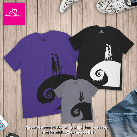 Jack and Sally on Spiral Hill - Unisex Short Sleeve T-Shirt