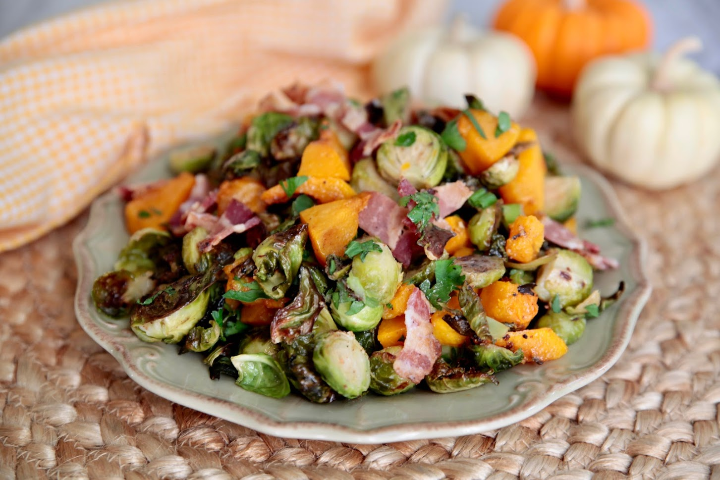 Roasted Brussels Sprouts with Butternut