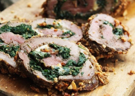 Spinach and Cheese Stuffed Meatloaf
