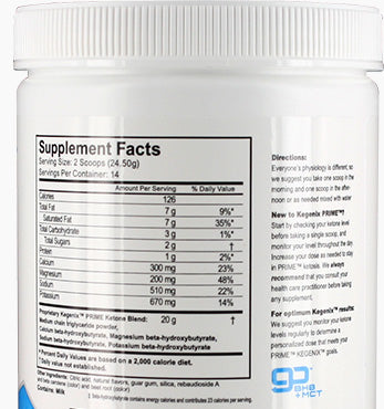 kegenix container with supplement facts