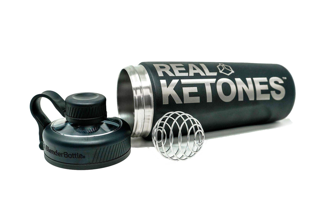 Real Ketones Matte Black Stainless Steel BlenderBottle®