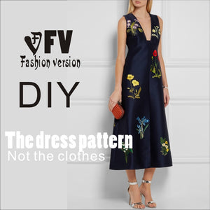 Dresses Sewing Pattern Template
