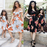 Mother and Daughter Matching Dress Outfits