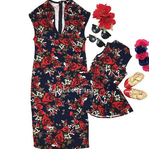 Mother and Daughter Floral Dress