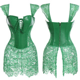 Faux Leather Corset Burlesque Slimming Sheath Top