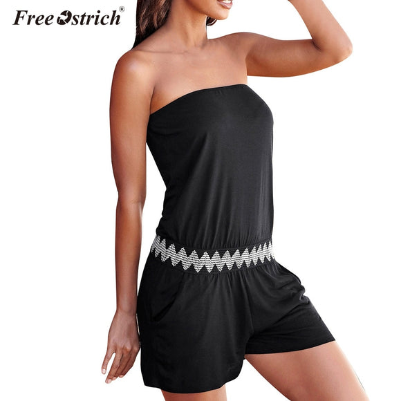 Free Ostrich Women Summer Striped Jumpsuit