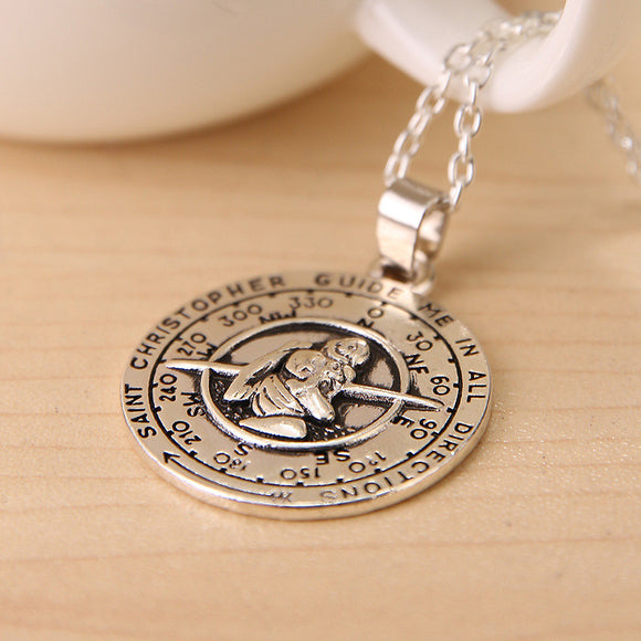 St Christopher Coin Necklace