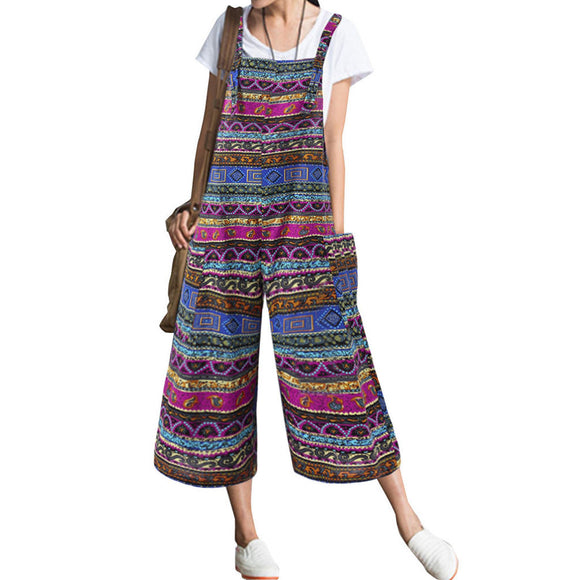 Summer Jumpsuit Women Pockets