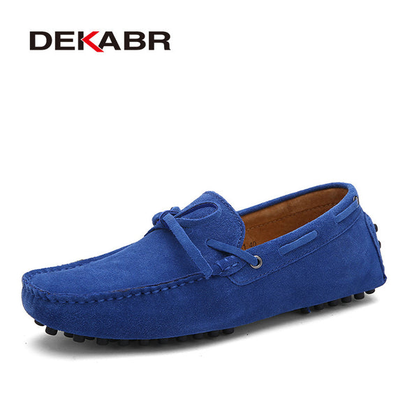 DEKABR Brand Cow Suede Leather Men Flats  Shoes