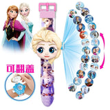 Cartoon Children Watch 3D Projection