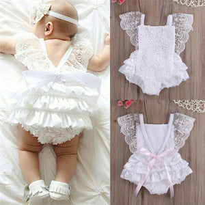 Romper Floral Ruffle Lace for Newborn Baby Girls