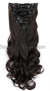 "18"" and 24"" Long Curly Clip in Hair Extension"