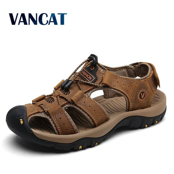 Leather Cowhide Men Sandals