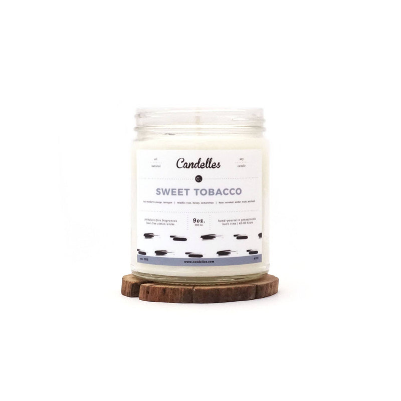 9oz Sweet Tobacco Scented Soy Candle