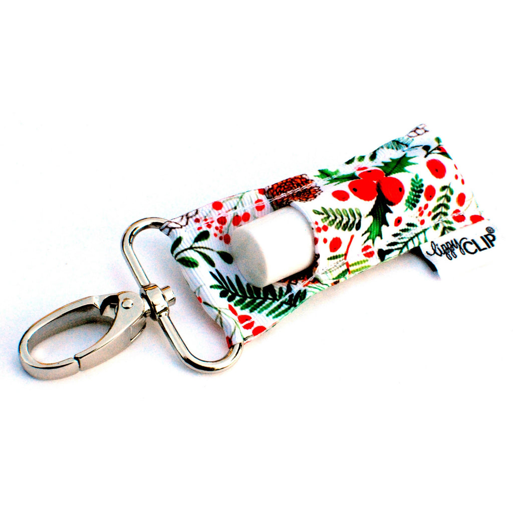 Holly and Pinecones LippyClip Lip Balm Holder