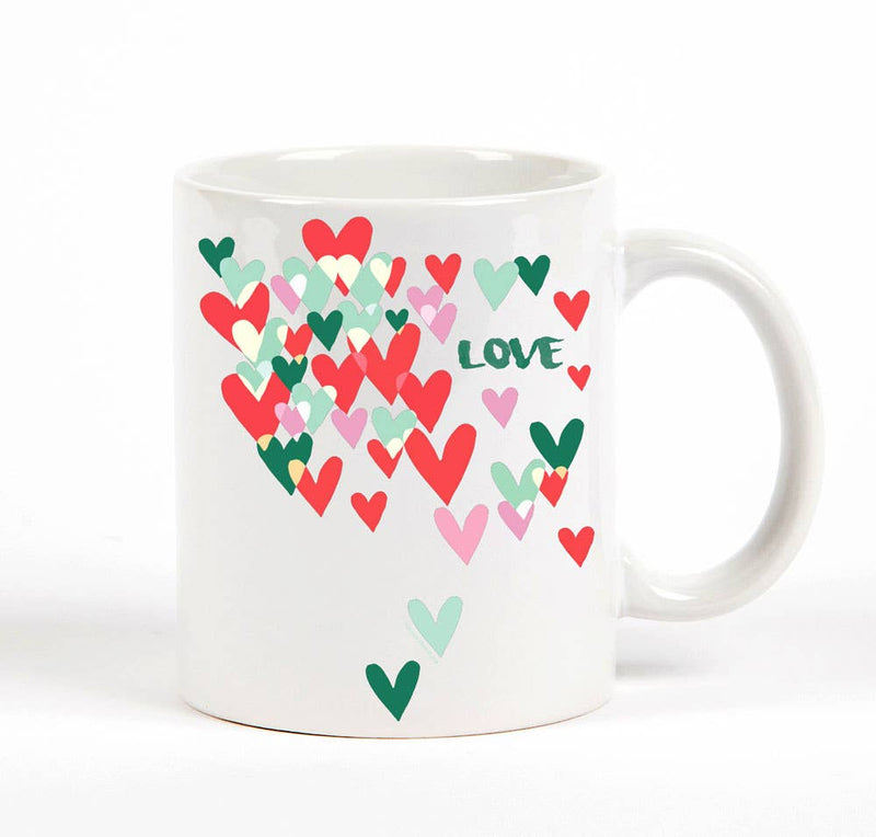 Love Cascading Hearts Mug
