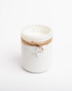 White Vintage Hobnail Jar with Texas Charm