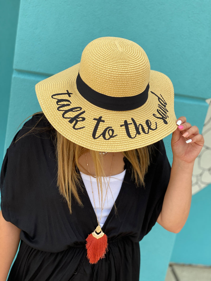 Wide-Brim Floppy Hat