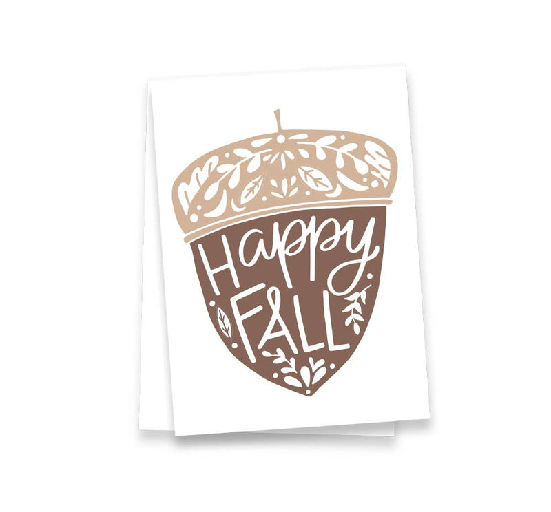 Happy Fall Acorn Tea Towel