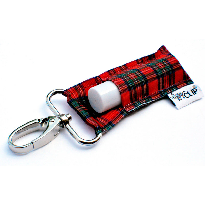 Classic Christmas Plaid LippyClip Lip Balm Holder