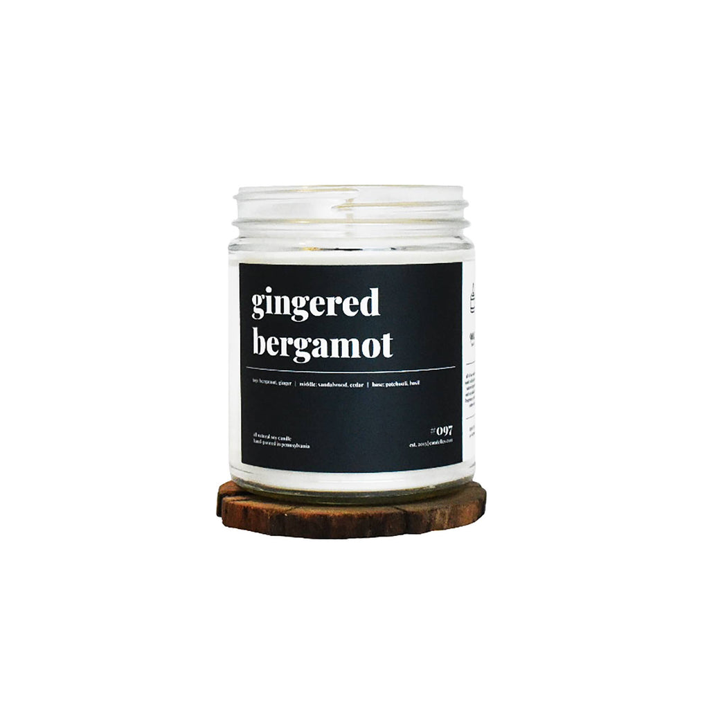 9oz Gingered Bergamot Scented Soy Candle