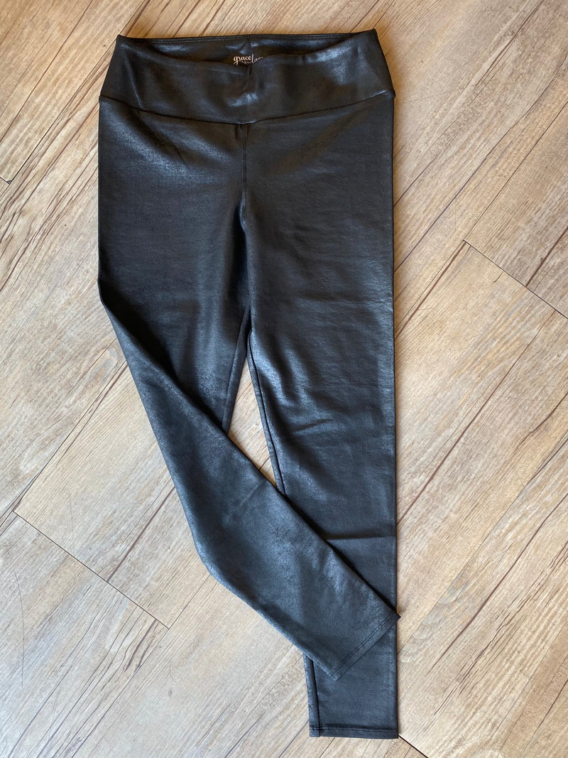 Grace & Lace Faux Leather Leggings