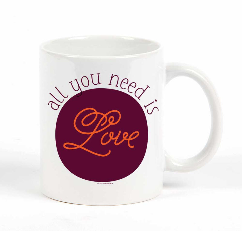 All You Need is Love Purple Circle Mug
