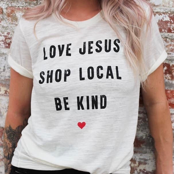 Shop Local Tee Ivory