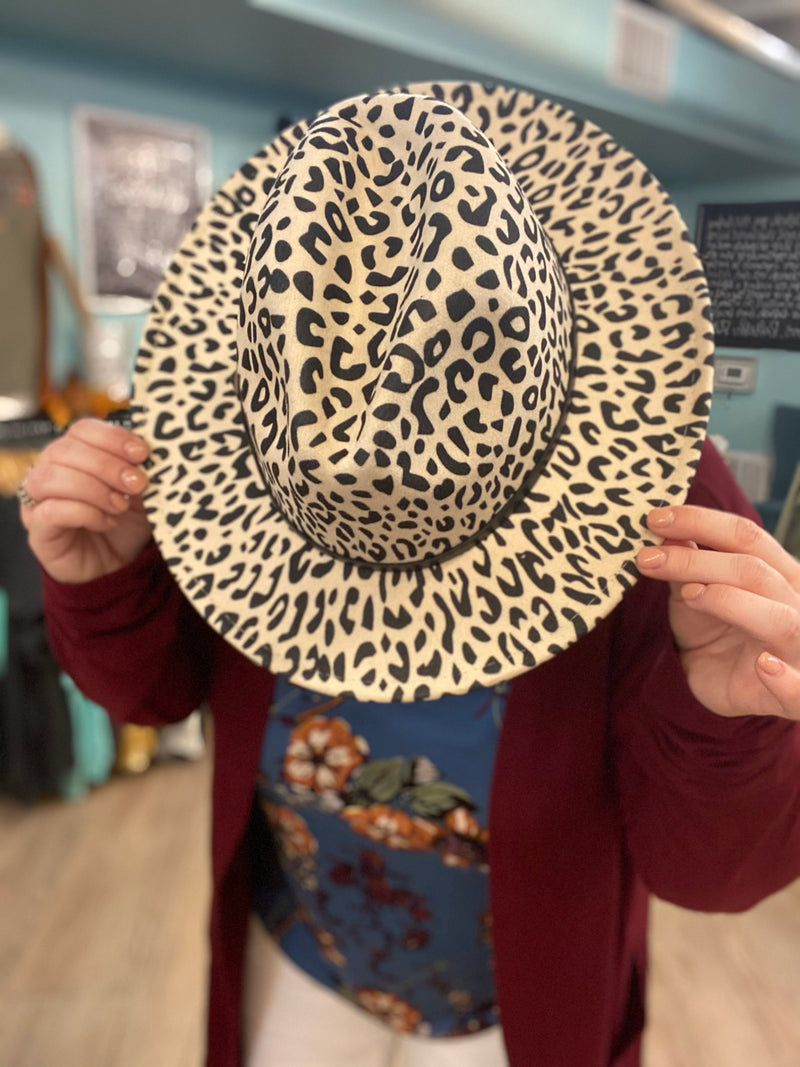 Leopard Hat Cream
