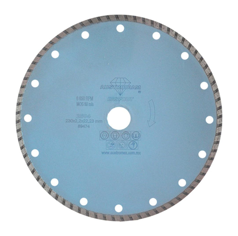 "DISCO DE DIAMANTE 9"" 2504 EASY CUT"